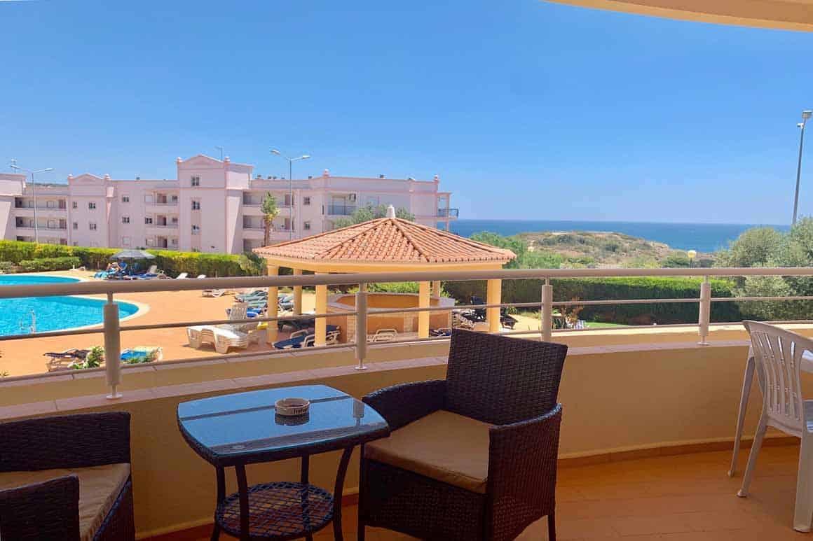 Veranda Pool Sea Views Algarve Villas Luz