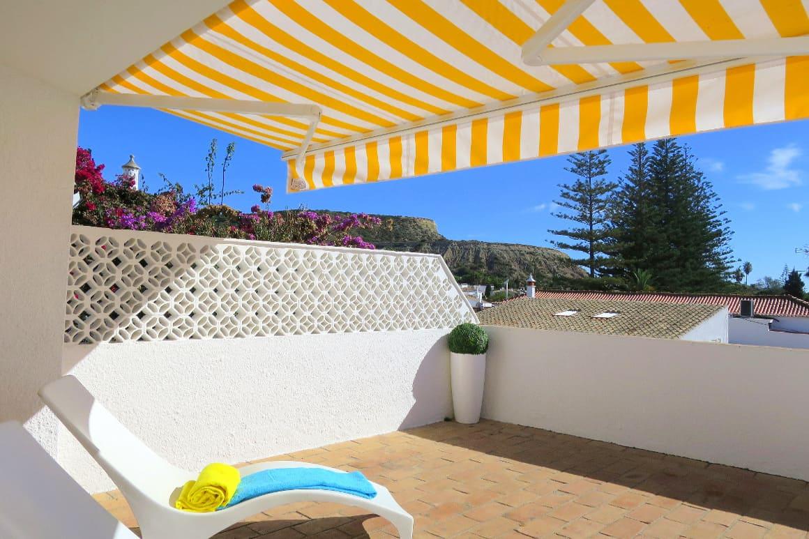 Sunshade on Bay Villa Terrace