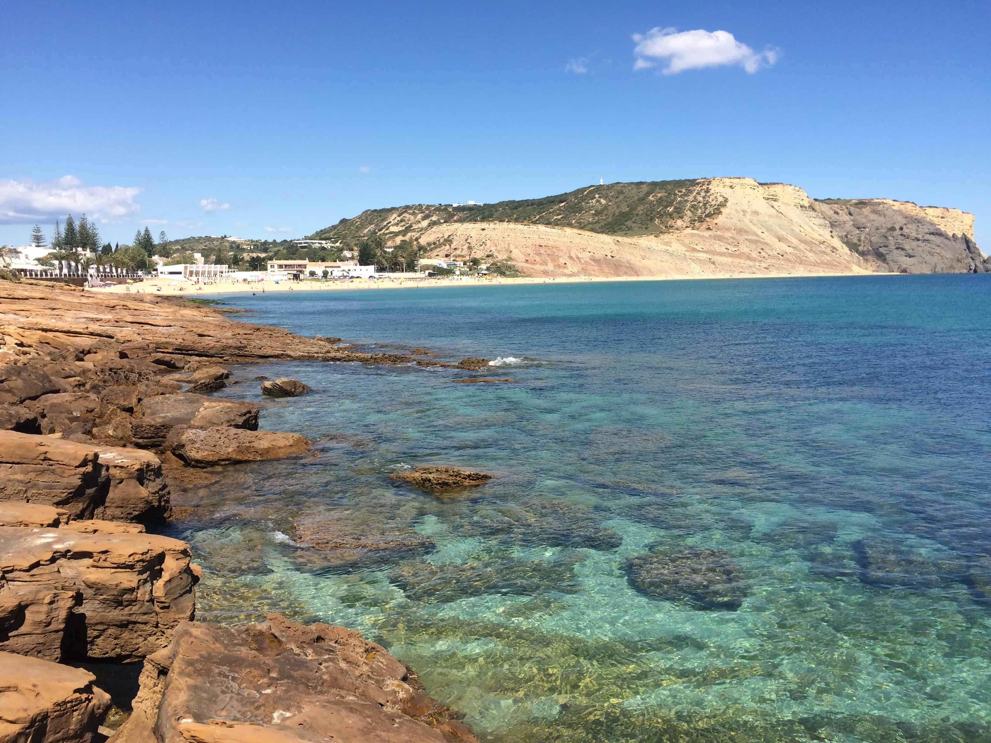 Praia da Luz Beach and Black Rock