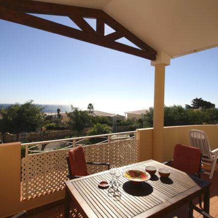 Acacias Villa 22 veranda lunch with sea view