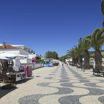 Market Stalls, Palms near Luz Beach