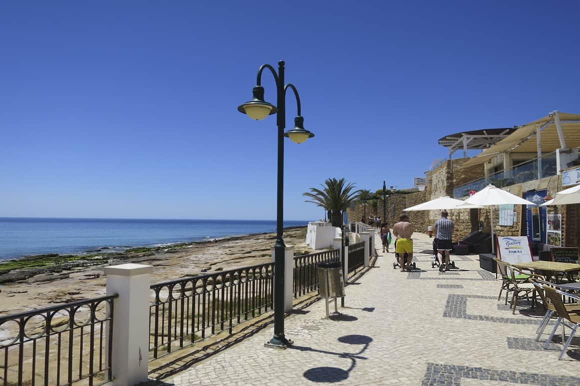 Delightful walk on Luz Beach promenade