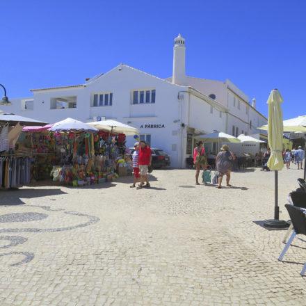 Market Stalls, cafes at Luz Beach Square