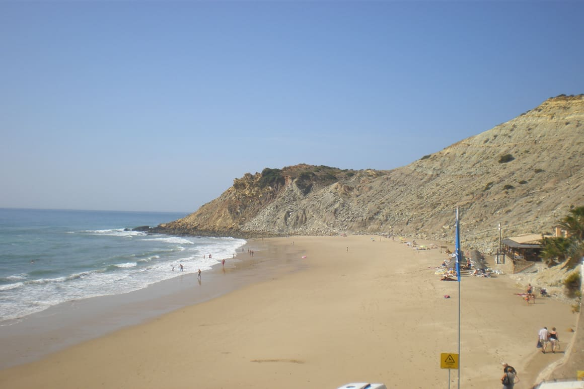 Burgau Blue Flag Beach Portugal